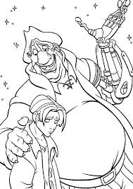 Treasure Planet John Try To Comfort Jim Coloring Pages