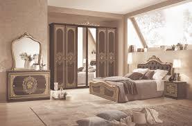 schlafzimmerset 6 tlg bett 160cm barock in schwarz gold