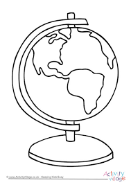 Full Size Of Coloring Pageglobe Page Globe Colouring 460 2