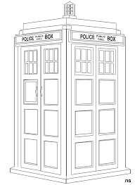 Free Tardis Pumpkin Stencil by Doctor Who Coloring Pages Printable The Tardis Colouring Pages