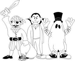 Halloween Costume Ideas Coloring Pages Printable For Preschoolers