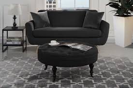 Details About Modern Round Tufted Microfiber Coffee Table W/ Casters,  Ottoman W/ Wheels, Black Brampton Traditional Upholstered Chair With Rolled Arms And Casters By Robin Bruce At Rooms Rest Del Sol Af Dundee 96675 Accent Huntington House 7366 Navy Blue Ding Room Chairs Without Set Sydney With Brass Caster Lexington Home Brands Escapecoastal Living Collection Kiawah Sofa Amusing Of Fniture Sitting Two Amazoncom Fubas Lounge Classic Tufted Linen Fabric Shelter Wing Armchair Grey Tables Lazboy Atemraubend Small Swivel Power Recliners Tub Desk For Klaussner Cameron K4000 Oc