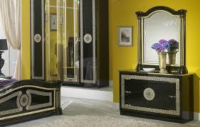 serena klassische schlafzimmer kommode schwarz gold