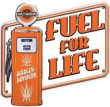 Harley Davidson Embossed Pump It Fuel For Life Sign 17 1 2 X 16
