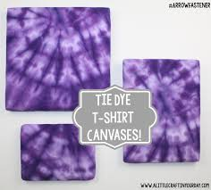 Tie Dye T Shirt Canvases
