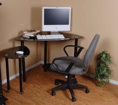 Glass Corner Desk Office Depot by Corner Desk Small Oak Computer Desk In Brown Varnished Modern