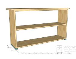 ana white grace u0027s bookshelves plans for two diy projects