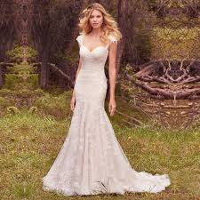 High Quality Rustic Wedding Dresses 2017 Country Style Gowns Vintage Lace Mermaid Dress Robe