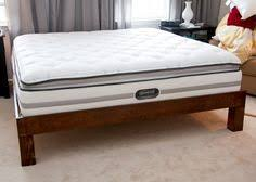 glitter and goat cheese king sized wood platform bed frame with