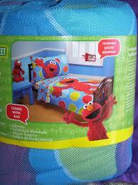 sesame street bedding sets sesame street elmo 4 piece toddler bed set