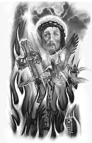 Evil Jesus Tattoo Sketch
