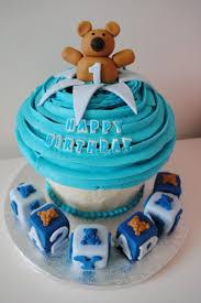 1st birthday giant cupcake boy
