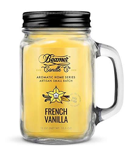 Beamer Candle Co Candle French Vanilla Aromatic Home Mason Jar Candle One-Size