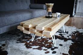 FurnituresIndustrial Reclaimed Wood DIY Coffee Table On Wheels Feat Small Lamp Minimalist Living Room
