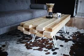 FurnituresIndustrial Reclaimed Wood DIY Coffee Table On Wheels Feat Small Lamp Minimalist Living Room