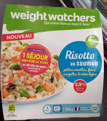 plat cuisiné weight watchers risotto au saumon weightwatchers 290 g