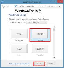 bureau de change en anglais windows 8 changer la langue du système windowsfacile fr