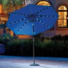 hton bay 11 ft dia solar powered patio umbrella in tan