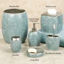 bath bath accessories calm waters light aqua mosaic bath
