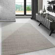modern kurzflor teppich einfarbig meliert für wohnzimmer
