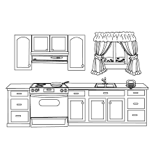 Picture Of Kitchen Coloring Pages That Makes You Feel Comfortable