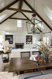 Vaulted Ceiling In A Living And Dining Room Space