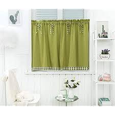 dreamskull kurzstores gardinen kleinfenster kurz landhausstil blickdicht scheibengardinen kurzgardinen vorhang kurzvorhang modern küche kariert 90cm