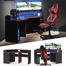 vicco gaming desk eckschreibtisch kron real de