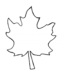 Leaf Coloring Pages Photo