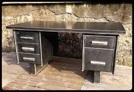 bureau industriel metal bureau industriel métal ées 50 60 4 tiroirs 1 tiroir