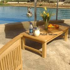 Exterior Favorite 15 Good View Weathered Outdoor Teak End Tables Coffee