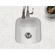 Undermount Bar Sink White by Houzer Pcb 1750 Wh Porcela Series Porcelain Enamel Steel