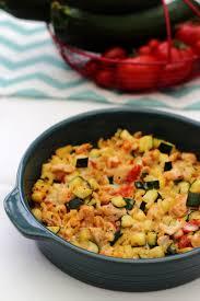 gratin de pâtes poulet et légumes à la cancoillotte amandine