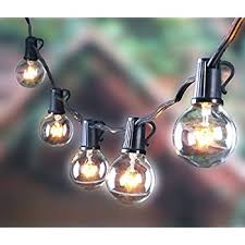 globe string lights with g40 bulbs by deneve outdoor garden