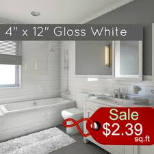 white gloss subway tile 4 x 12 metro collection