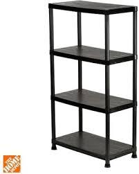 H Black Plastic Storage Shelving Unit PRICEGRABB 4 Shelf 15 in D x 28 in W x 52 in