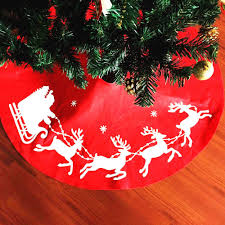 COUNTRY CHRISTMAS Red Whimsical Santa Christmas Tree Skirt 393 Natal Navidad Christmas30 2017 Hot Sale