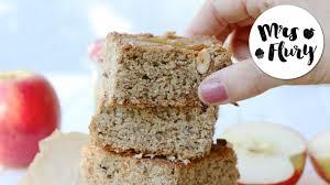 gesunder apfelmus kuchen mit nüssen glutenfrei