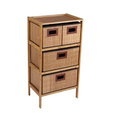 Sterilite 4 Drawer Cabinet 2 Pack by Amazon Com Household Essentials Bamboo 4 Drawer Storage Chest