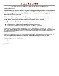 Case Manager Cover Letter Sample No Experience Job And