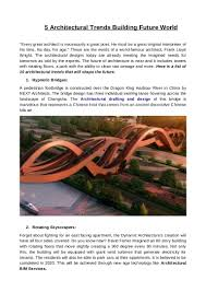 100 5 Architects Architectural Trends Building Future World Siliconinfo