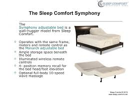 symphony adjustable bed by sleep comfort