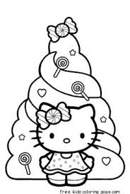 Christmas Hello Kitty Coloring Pages Free PrintFree Printable