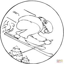 Dibujo De Competición De Esquí Para Colorear Dibujos Para