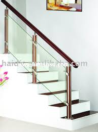 Staircase Glass Railing Manufacturers In ~ Loversiq Modern Glass Stair Railing Design Interior Waplag Still In Process Frameless Staircase Balustrade Design To Lishaft Stainless Amazing Staircase Without Handrails Also White Tufted 33 Best Stairs Images On Pinterest And Unique Banister Railings Home By Larizza Popular Single Steel Handrail With Smart Best 25 Stair Railing Ideas Stairs 47 Ideas Staircases Wood Railings Rustic Acero Designed Villa In Madrid I N T E R O S P A C