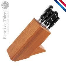 coutellerie professionnelle cuisine bloc avec set de couteaux pro label 6 pièces cuisine 2000 made in