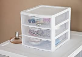 Plastic Dressers At Walmart by Amazon Com Sterilite 3 Drawer Mini Unit 20738006 Clear Home