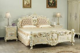 Italian Bedroom Furniture French Provincial Style Solid Wood Bed