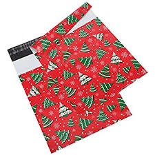 Decorative Flat Poly Mailers by Amazon Com Poly Mailers 8 5x12 Winter Snowflakes Holiday Print