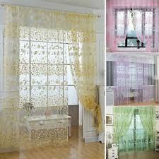 details zu blumen vorhang gardinen vorhänge schal schlafzimmer fensterschal transparent neu